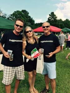 Three people at Italian Heritage Festival 2015