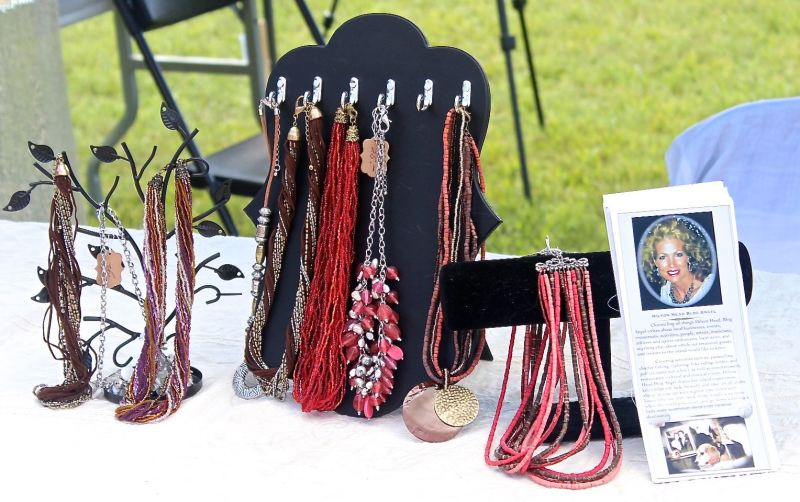 Jewelry display at festival