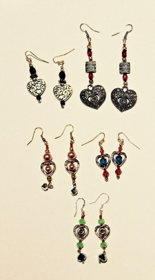 Hand-made earrings by Lucie Mann