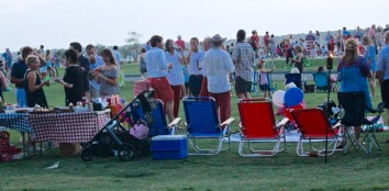 Visitors gather to celebrate the 4th of July